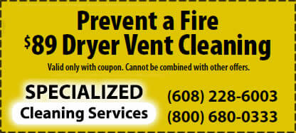 Speciality Cleaning Dryer Vent Cleaning Services Wisconsin